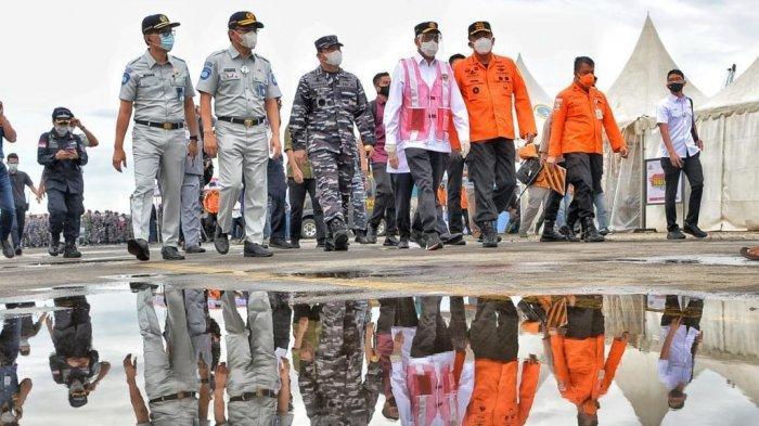 Menhub Budi Karya Sumadi dan Panglima TNI Tinjau Langsung Titik Lokasi Jatuhnya Sriwijaya Air