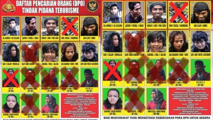 Ini nama dan foto 11 anggota kelompok MIT Poso yang menjadi buronan aparat. Medan pelarian yang sulit dan kerapnya menyamar jadi kendala penangkapan.