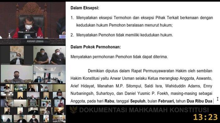 MK Putuskan Gugatan Paslon Kabupaten Banggai Tidak Dapat Diterima