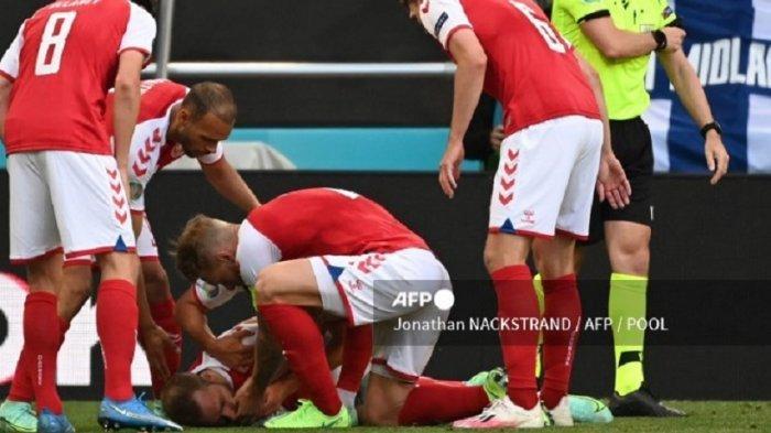 EURO 2020: Detik-detik Insiden Christian Eriksen Pingsan, Laga Denmark Vs Finlandia Dihentikan