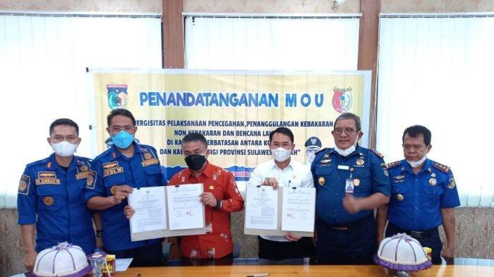 Kota Palu dan Kabupaten Sigi Teken MoU Sinergitas Pencegahan, Penanggulangan Kebakaran
