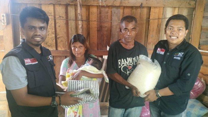 Bantu Keluarga Miskin di Utara Kota Palu, Kacab ACT Sulteng Ajak Masyarakat untuk Ikut Beri Donasi