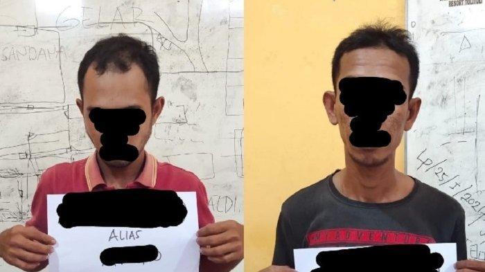 Dusun di Kalangkangan Tolitoli Ini jadi Tempat Transaksi Narkoba, 2 Pria Diamankan Polisi