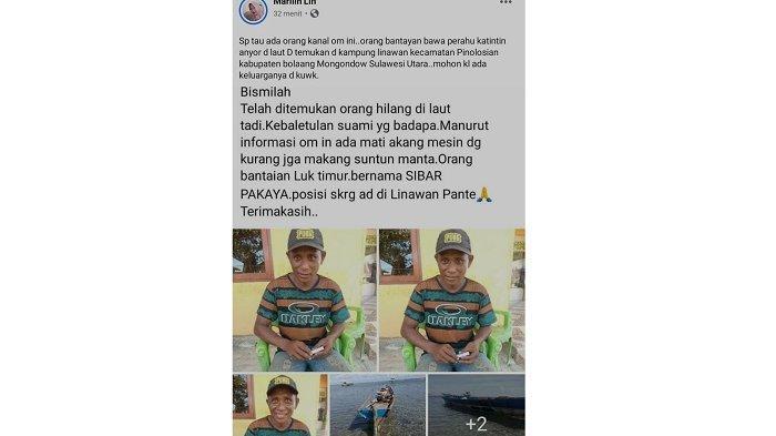 Hilang 4 Hari saat Melaut, Nelayan Asal Banggai Ditemukan di Sulawesi Utara