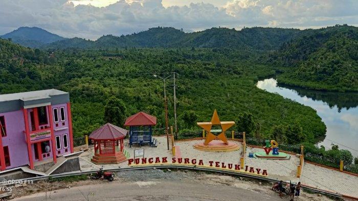 Keren! Kades Teluk Jaya Tolitoli Sulap Puncak Bukit jadi Objek Wisata