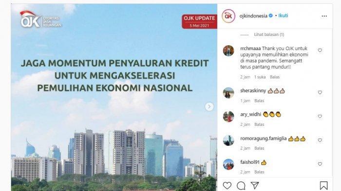OJK Jaga Momentum Penyaluran Kredit untuk Mengakselerasi Pemulihan Ekonomi