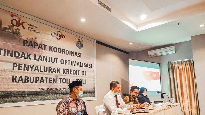 OJK Sulteng Gelar Rapat Koordinasi Optimalisasi Penyaluran Kredit di Kabupaten Tolitoli