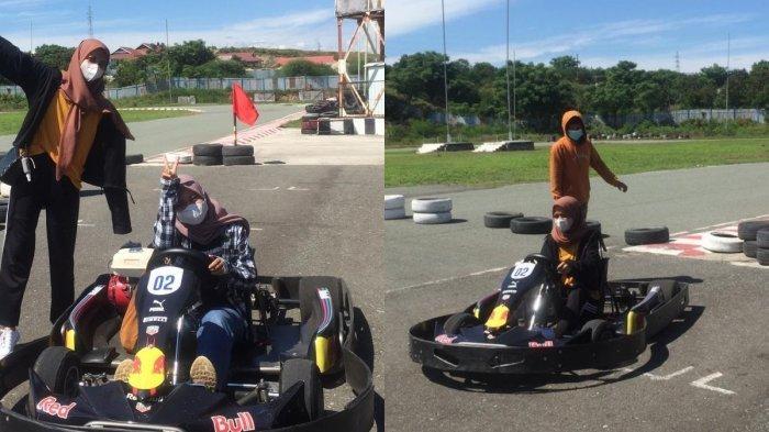 Bayar Murah Serunya Luar Biasa, Sekarang Sudah Bisa Main Gokart di Panggona Circuit Palu Sulteng