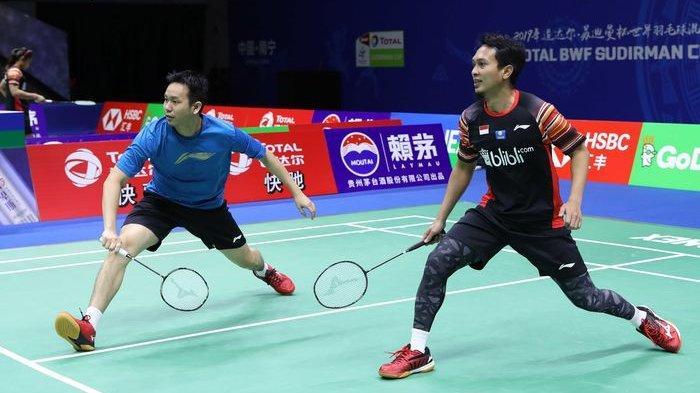 Live Streaming Badminton Olimpiade Tokyo: Ahsan/Hendra Lwan Kanada, Mulai Pukul 16.00 WIB