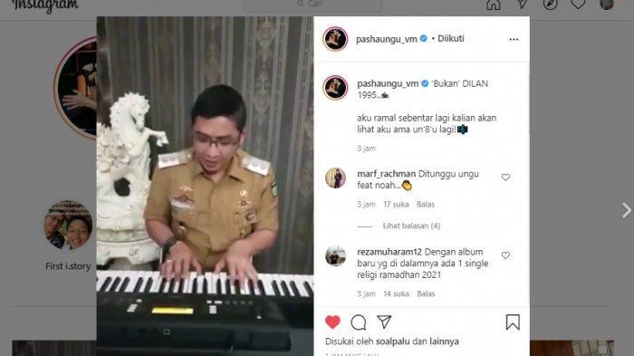 Pasha Ungu Nyanyi Lagu Ost Dilan 1990, Caption: 'Bukan' DILAN 1995
