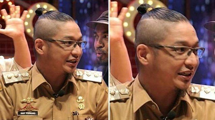 Pasha Ungu dengan gaya rambut man bun