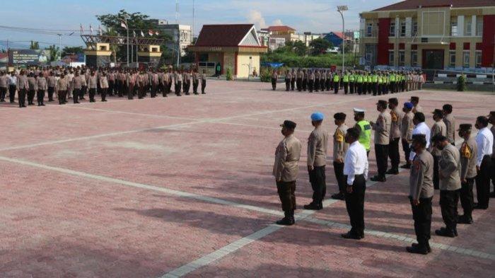 Sambut Hari Buruh Internasional, Polda Sulteng Siagakan Pasukan