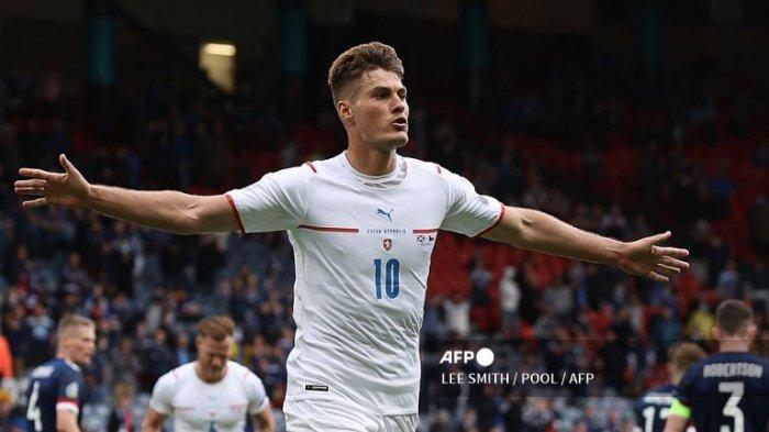 Hasil Euro 2020 - Gol Cantik Schick Warnai Kemenangan Republik Ceko atas Skotlandia