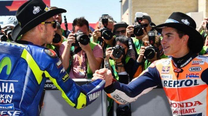Sama-sama Jadi Bintang di Lintasan MotoGP, Ini Perbedaan Karakter Valentino Rossi dan Marc Marquez