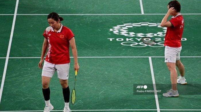 Pasca Kalah Lawan Greysia/Apriyani di Final Olimpiade,Ganda Cina Terancam Sanksi BWF Akibat Aksi Ini
