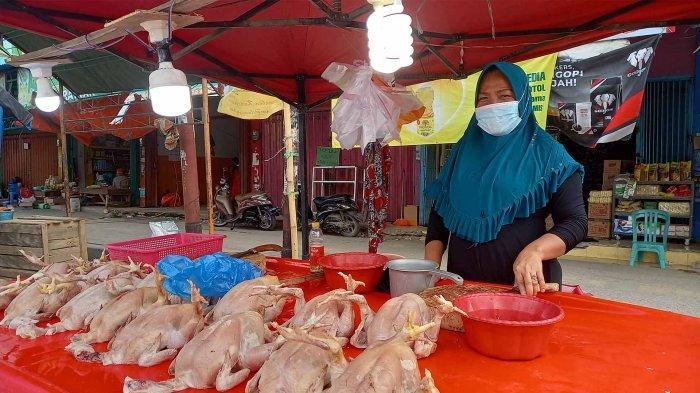 H-1 Lebaran Iduladha 1442 H, Harga Ayam Potong Naik di Pasar Inpres Palu