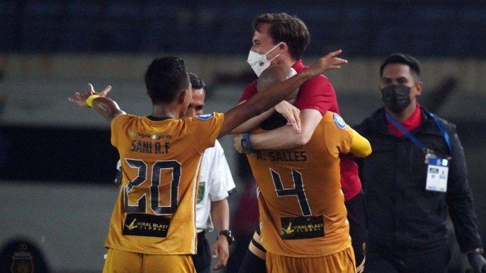 Menang 2-0 Lawan Persik Kediri, Bhayangkara FC Kokoh di Puncak Klasemen