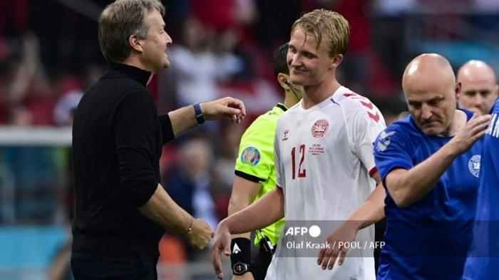Hasil Euro 2020 - Denmark Mantap Hajar Wales 4-0, Kasper Dolberg Persembahkan Dua Gol untuk Eriksen