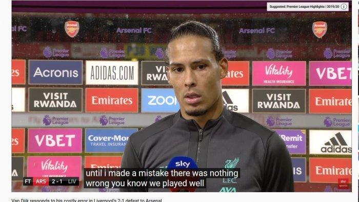 Akui Blunder yang Sebabkan Liverpool Kalah, Virgil Van Dijk: Saya Akui Saya Salah