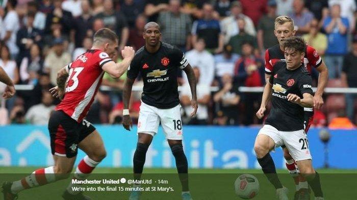 Hasil Liga Inggris - Manchester United Hanya Bisa Main Imbang Lawan 10 Pemain Southampton