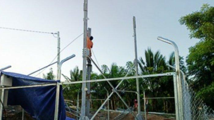 Pemkab Banggai Fokus Sediakan Infrastruktur Digital, Tower BTS 4G Mulai Dibangun