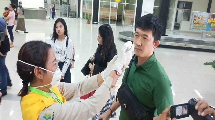 Cegah Penyebaran Virus Corona, Bandara Palu Perketat Pemeriksaan Kesehatan Penumpang