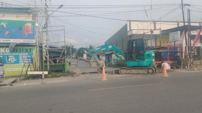 Jalan Untad 1 Kota Palu Ditutup Sementara, Ada Pekerjaan Gorong-gorong