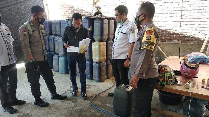 Satgas K5 Gerebek Tempat Penimbunan BBM di Duyu Palu, Lurah: Pemilik Tidak Mengantongi Izin