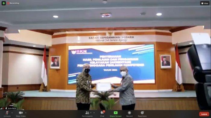 BKD Sulteng Raih Akreditasi A dari BKN RI