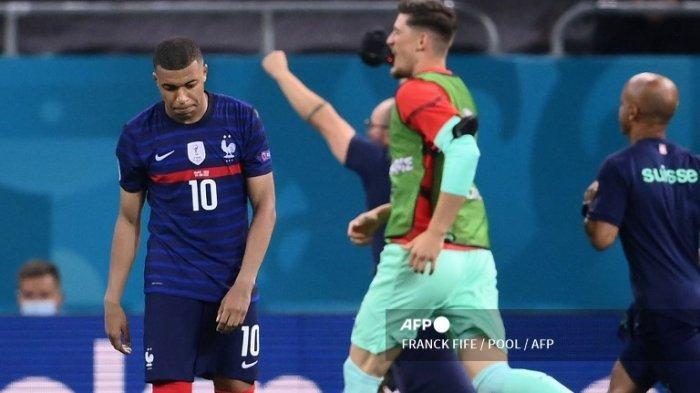 Hasil Euro 2020 - Prancis Disingkirkan Swiss, Mbappe Jadi Biang Kerok di Babak Adu Penalti