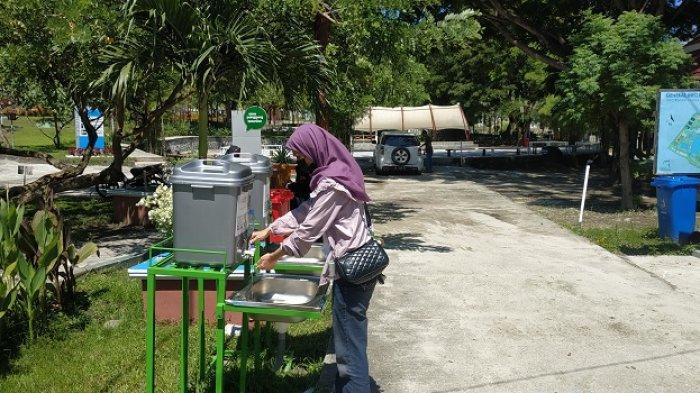 Permandian Air Panas Bora atau Hot Spring Bora di Desa Bora, Kecamatan Sigi Biromaru, Kabupaten Sigi, Minggu (27/6/2021).