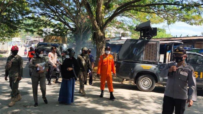 Perkecil Penyebaran Covid-19 di Poso, TNI-Polri dan BPBD Gelar Operasi Yustisi