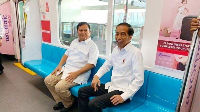 Pertama Bertemu Setelah Pilpres 2019, Jokowi dan Prabowo Tampil Kompak dengan Baju Warna Putih