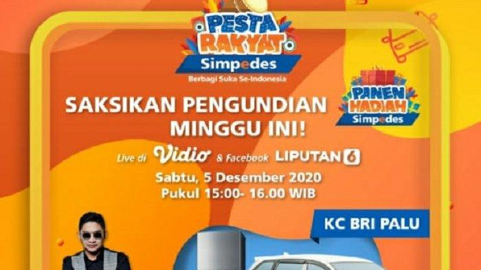 Berlangsung Virtual, Pasha Ungu Sumbang Lagu di Pesta Rakyat Simpedes Palu