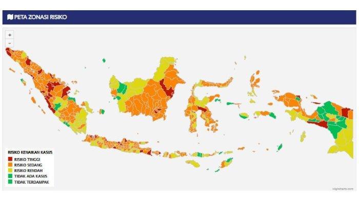 Update Data Zonasi Risiko Penularan COVID-19: 6 Daerah di Sulteng Masuk Zona Oranye Risiko Sedang