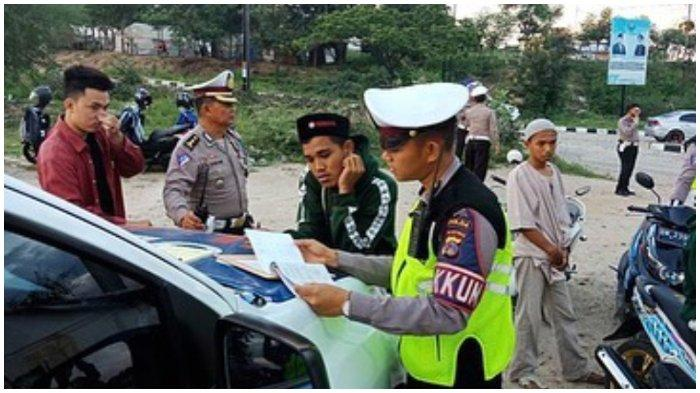 Satlantas Polres Palu Tilang 11 Kendaraan dan Beri Sangsi Teguran Ratusan Pelanggar Lalu Lintas