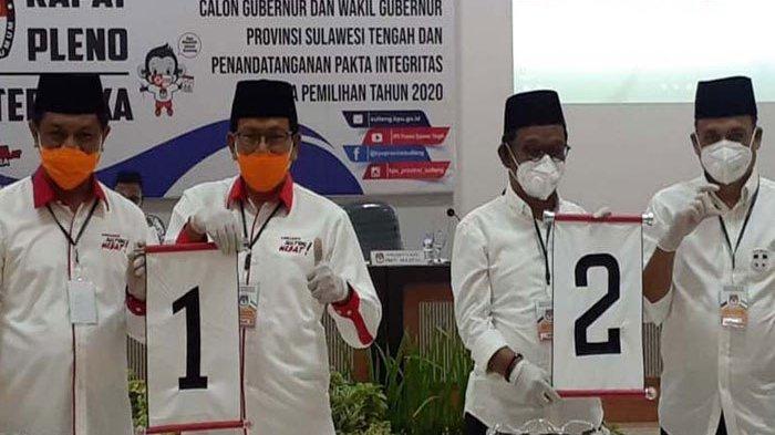 Hasil Hitung Sementara Pilkada Sulawesi Tengah 2020 Hampir 100%: Rusdy-Ma'mun Unggul 58,58%