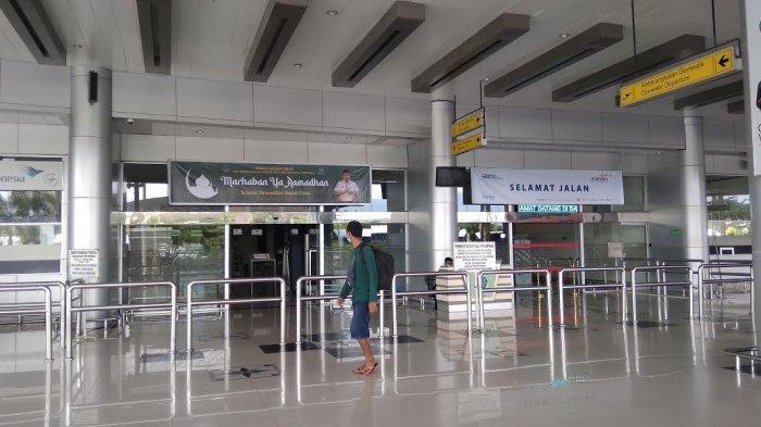 4 Hari Jelang Larangan Mudik, Pintu Keberangkatan Bandara Mutiara Sis Aljufri Palu Lengang
