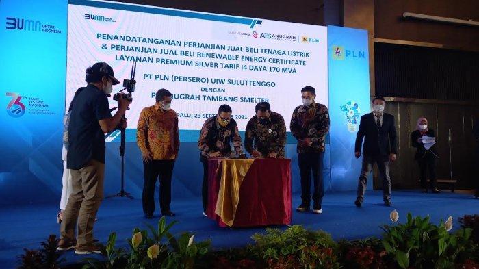 PT ATS dan PLN Suluttenggo Teken Perjanjian Jual Beli Daya 170 MVA
