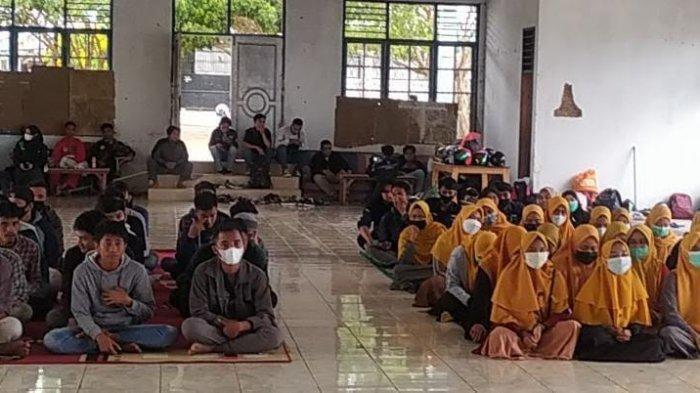 Pergerakan Mahasiswa Islam Indonesia (PMII) Rayon FISIP Universitas Tadulako (Untad) menggelar Masa Penerimaan Anggota Baru (Mapaba), Jumat (19/2/2021).