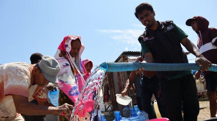 Selama Sebulan, ACT dan Muslim Volunter Malaysia Salurkan Bantuan Air Bersih ke Pengungsi di Palu