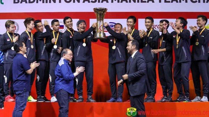 Podium Badminton Asia Team Championships 2020 pada Minggu (16/2/2020) -
