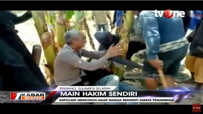 Viral Aksi Kapolsek Cempa Bersimpuh ke Massa Cegah Penganiayaan ke Penambang Pasir