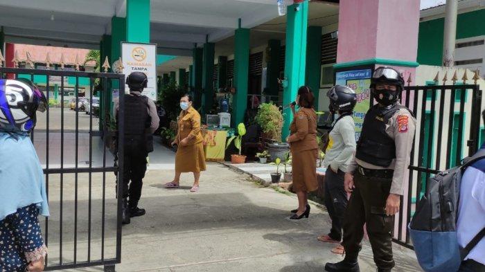 Polisi Rutin Patroli di Sekolah untuk Cegah Tawuran Pelajar dan Pantau PTMT di Banggai