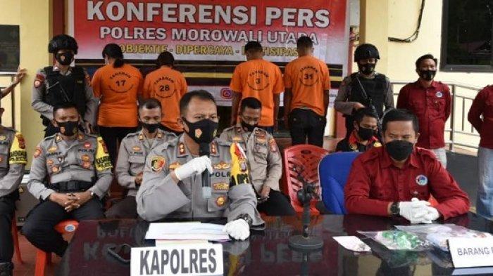 Januari-April 2021, Polres Morowali Utara Ungkap 28 Kasus Narkotika