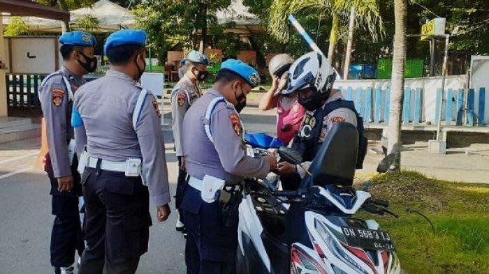 22 Personel Polres Palu Kedapatan Propam Tidak Bawa Surat Kendaraan