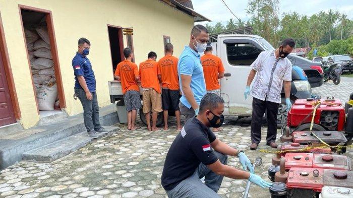 5 Spesialis Pencuri Mesin Traktor di Parimo Dibekuk, Hasil Curian Dijual ke Kota Palu