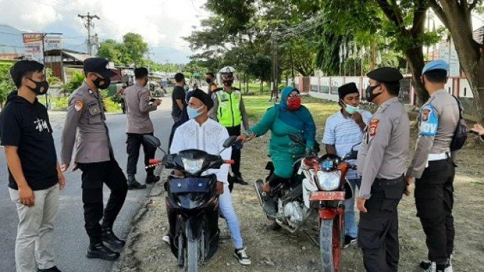 Ciptakan Kamtibmas di Masa Pandemi Covid-19, Polres Sigi Rutin Razia Pengendara di Jalan Raya
