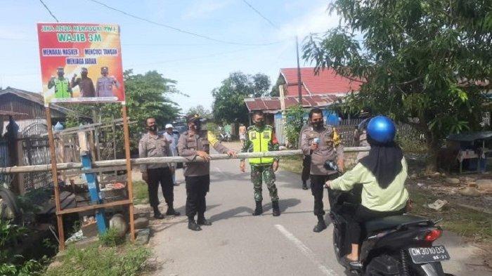Tolitoli Terapkan PPKM Skala Mikro, TNI-Polri Pasang Portal di Perbatasan Kelurahan