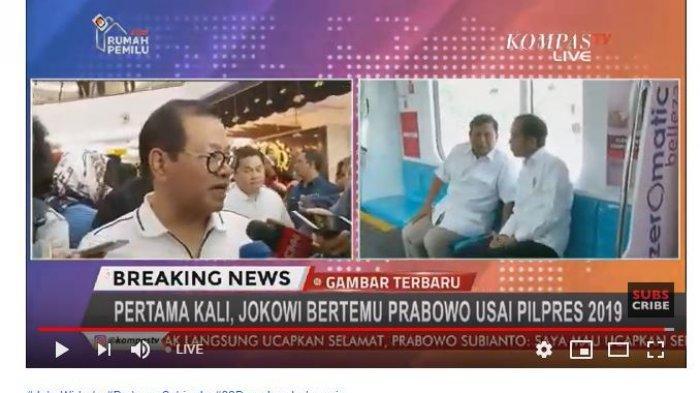 Jokowi Temui Prabowo di MRT, Pramono Anung: Tidak Ada Pembahasan Rizieq Shihab Sama Sekali